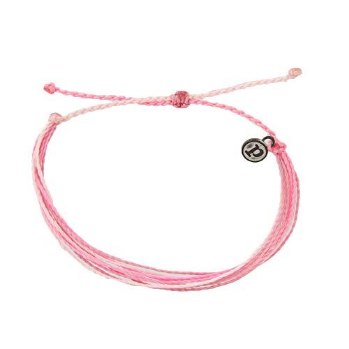 Pura Vida Boarding 4 Breast Cancer Bracelet - Waterproof, Artisan Handmade, Adjustable, Threaded, Fashion Jewelry for Girls/Women ()