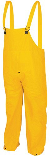MCR Safety 2403S Classic Plus PVC/Polyester 3-Piece Corduroy Collar Rain Suit with Detachable Hood and Bibpant, Yellow, Small by MCR Safety (Image #4)