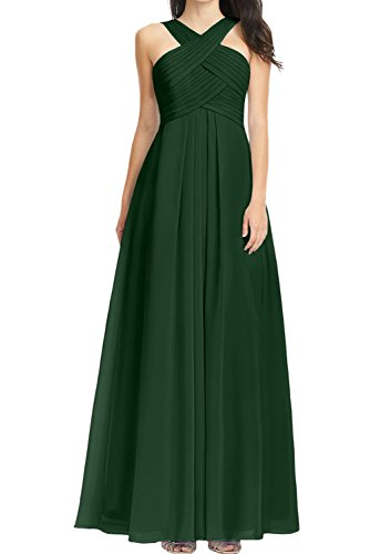 A Festkleid Chiffon Lang Linie Ballkleid Rueckenfrei Damen Ivydressing Grün Partykleid Abendkleid Falte aermellos z5OHnwq