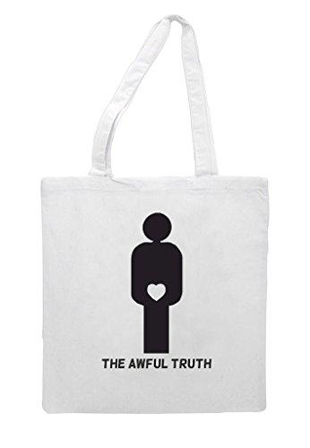 The Shopper Gender Man Awful Truth Bag White Tote Figures Heart Zq8rZtxB