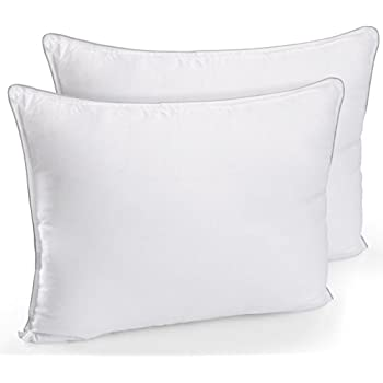 Amazon Com Extra Lush Fiber Polyester Filled Bed Pillows