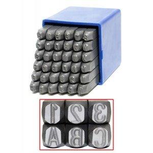 Schlagzahlen Set - 36 tlg. 0-9 und A-Z in 4 - 6 - 10 Millimeter (10 Millimeter)