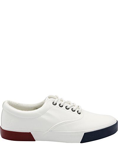 Beverly Hills Polo Club Mens John Leather Sneaker White