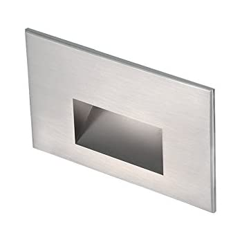 WAC Lighting 4011-30SS WAC Step & Wall 5 inch Ledme 12V Rectangle Step & Wall Light 3000K Soft White In Stainless SteelStainless Steel