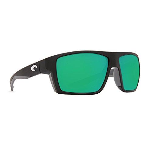 Costa Del Mar Men's Bloke Sunglasses (Matte Black/Matte Gray,Green - Costa Bloke Mar Del