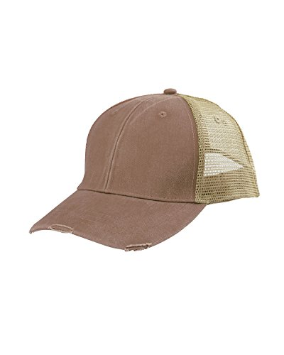 Adams Durable Trucker Style Structured Ollie Cap, One Size, Mississipi Mud/Tan (Pigment Dyed Twill Cap Solid)