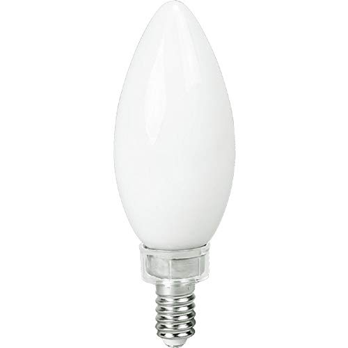 LED Chandelier Bulb - 5W - 500 Lumens 60W Equal - 1800-3200 Kelvin Warm Dim - Frosted - Straight Tip - Candelabra Base - Dimmable - 120V - TCP FB11D60FRGL1 ()