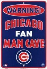- Dixie Chicago Cubs Man Cave Metal Parking Sign
