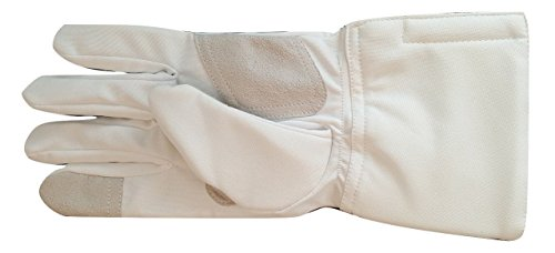 3-weapon Practice Fencing Glove Washable Epee Foil Sabre White Polyester (8, left)