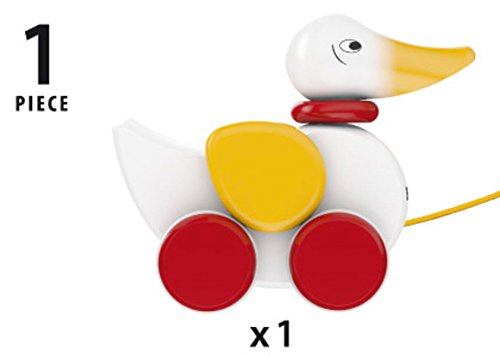 31jFoS6Yr0L - BRIO World - 30323 Pull Along Duck Baby Toy | The Perfect Playmate for Your Toddler