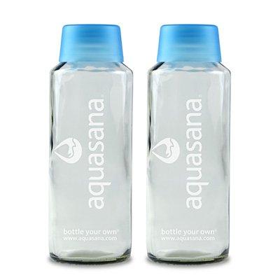(18 oz. Glass Water Bottle Twin-Pack Aquasana)