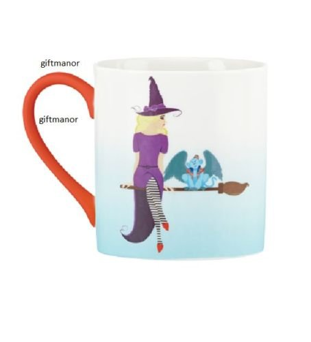 Lenox Wizard of OZ Don't Make Me Unleash The Monkeys Mug 12 oz. Witch on Broom with Winged Monkey Brand New in - Witch Winged