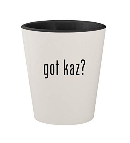 got kaz? - Ceramic White Outer & Black Inner 1.5oz Shot Glass