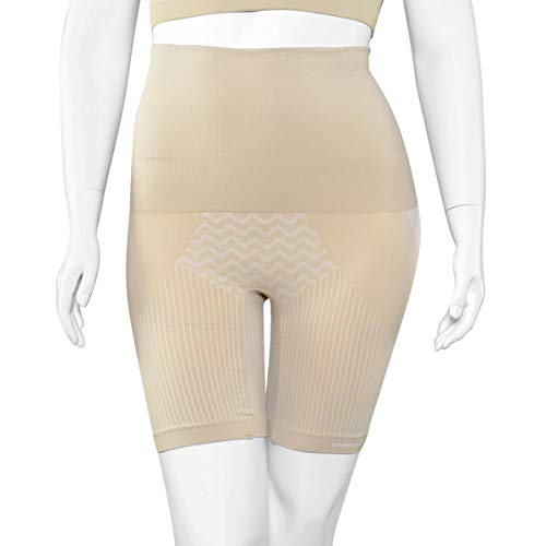 SANKOM Beige Thigh Slimming Tummy Waist Control Posture Shaper Shapewear with Cooling Fibers S/M