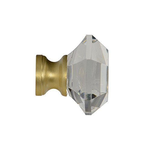 #G-75 CKP Brand Elegance Glass Collection 1-1/4 in. (32mm) Clear Glass Knob with Satin Brass Base - 10 Pack by CKP (Image #3)