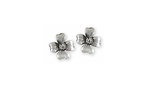 (Dogwood Jewelry Sterling Silver Dogwood Earrings Handmade Flower Jewelry DGW5-E)