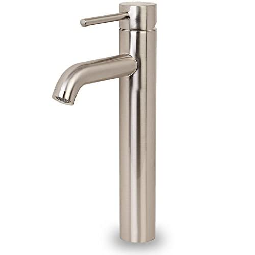 iSpring L8114BN Euro Modern Contemporary Bathroom Lavatory Vanity Vessel Sink Faucet Tall Brushed Nickel. 80%OFF