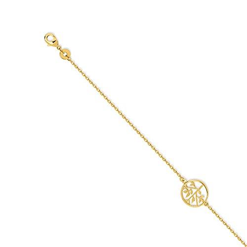 Tousmesbijoux Bracelet Arbre de vie plaqué Or