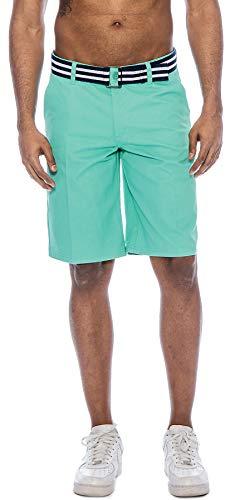 Green Walking Shorts - TR Fashion Men's Bahamas Belted Walking Shorts (Mint, 30)