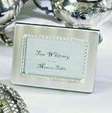 Matte Silver Wave Favor Frame Place Card Holder 10 Piece Set for Wedding Reception Tables