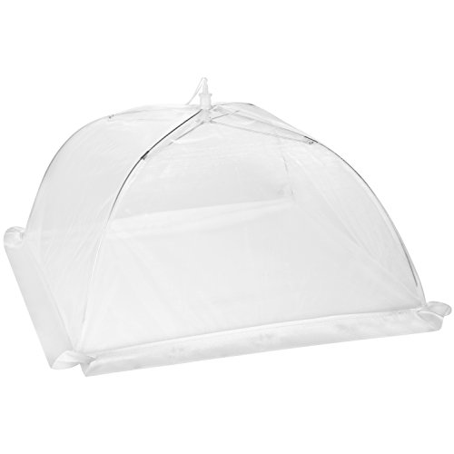 Luxury Food Nets | Pack of 4 | Easy Pop Up and Collapsible Umbrella | White Mesh Bug Net | Cake Cover | Reusable Outdoor BBQ Food Tent | 2 Sizes | Mosquito and Insect Screen | Keep Bugs Out by Aunty Claudia's Covers (Image #8)