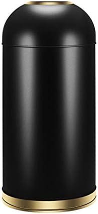 キッチンビン ステンレス樽型オープントップのゴミ箱リムーバブルインナーバレル、コマーシャルグレード52リットル/ 13.7ガロン、ふたがなければ、 浴室用ビン (Color : Black gold, サイズ : 11.8Gal)