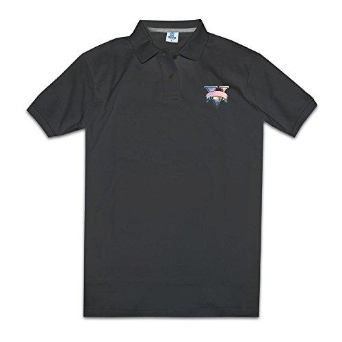 YYHU Men's Grand Theft Auto V PC Release Date Short Sleeve Polo - Size XXL Black