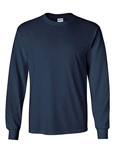 Gildan Mens 6.1 oz. Ultra Cotton Long-Sleeve T-Shirt G240 -NAVY XL ()