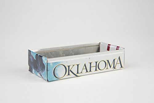 Oklahoma box made from an Oklahoma License Plate
