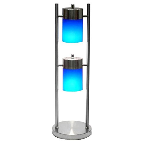 Hongville HV-TLAMP-3031T-BL 2 Light Angle Adjustable Contemporary Acrylic Shades Table Lamp, Frosted Blue by Hongville