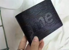 SUPREME&LV Men and women wallets,purse,Short wallet,Handbags from SUPREME&LV