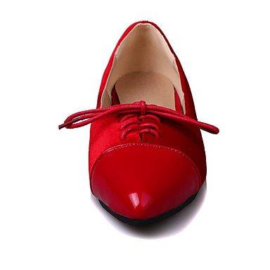 Cómodo y elegante soporte de zapatos de las mujeres pisos primavera verano otoño invierno comodidad forro polar patente cuero oficina & carrera partido y vestido de noche soporte de remache talón cord verde