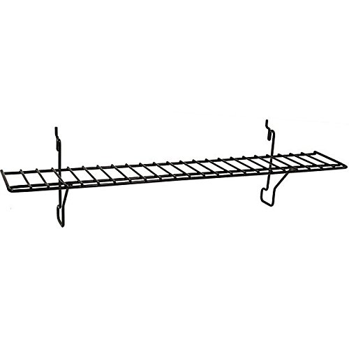 Count of 8 New Retails Black Wire Pegboard Shelf Measures 23w x 4d