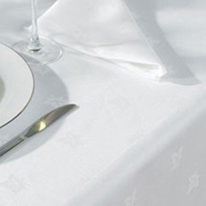 Large White Egyptian Cotton Damask Tablecloth 70u0026quot; ...