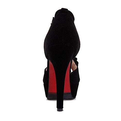 5 Noir Bout AdeeSu Femme Ouvert EU 36 Noir tYtqRw
