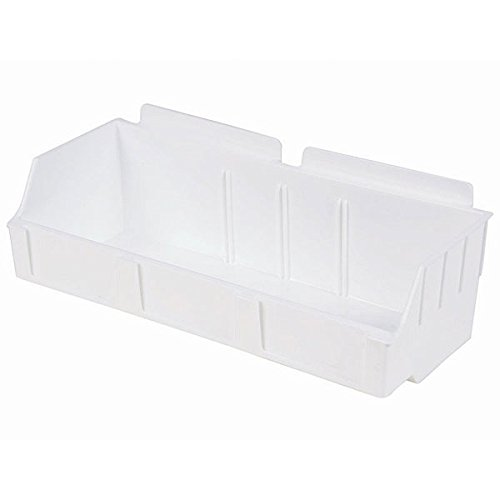 New Retail White Storbox wide for Slatwall 4.65''d x 11.42''w x 3.35''h by Storbox