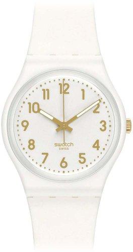 Swatch gw164 34 mm Plastic Case White Rubber Mineral Women s Watch: Amazon.es: Relojes