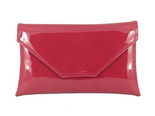 LONI Bandouliere Simili Pochette Cerise Verni Femme Sac Stylish Pink Raspberry v1rxwIZvq