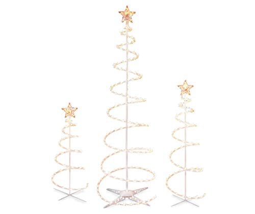 Outdoor Rope Light Spiral Christmas Tree in US - 2