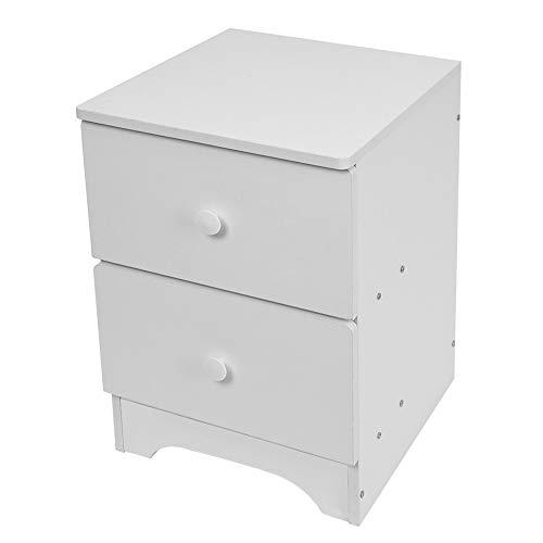Small Bedside Table, Ocean-Store Assemble Storage Cabinet Bedroom Bedside Locker Double Drawer Nightstand