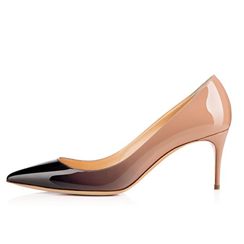 Eldof Womens High Heel Pumps | Decoltè Punta A Spillo 8cm | Gradiente Di Pompe Da Sposa Classiche Sexy