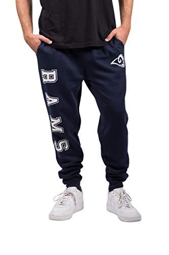 Ultra Game NFL Los Angeles Rams Men's Active Basic Fleece Jogger Sweatpants, Team Color, X-Large