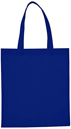 Reusable Convention - Conference Tote Bags Non Woven Bright Colors for Promotions, Giveaway Favors, Royal, Set of 100