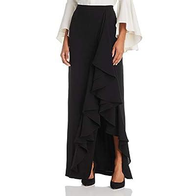 Eliza J Womens Full Length Ruffle Trim Maxi Skirt