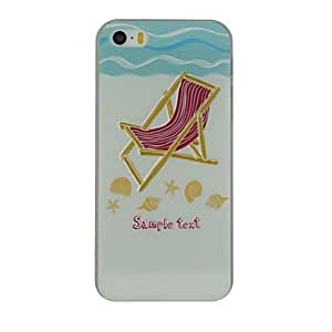 SHOUJIKE Embossed Beach Chair Pattern PC Hard Back Cover Case for iPhone 5/5S