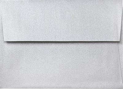 A2 Invitation Envelopes w/Peel & Press (4 3/8 X 5 3/4) - Silver Metallic (50 Qty.)
