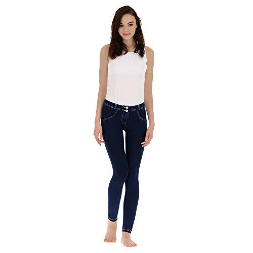 Blancas Wr up Skinny De Oscuro Freddy Pitillo Mujer Denim Vaqueros costuras Regular M Talle Zw7RdCq