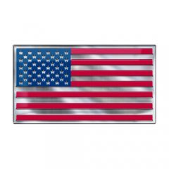 USA Flag Color Auto Emblem