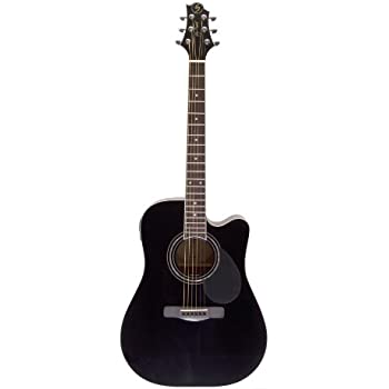 samick greg bennett design d1ce acoustic guitar black musical instruments. Black Bedroom Furniture Sets. Home Design Ideas
