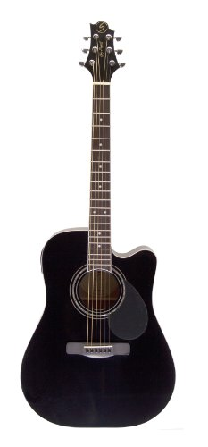 Samick Greg Bennett Design D1CE Acoustic Guitar, Black